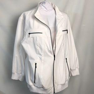 Zenergy Chico's Jacket 2 Large White Windbreaker
